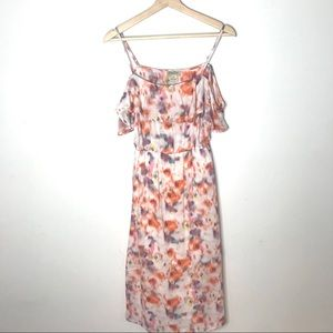 Lucky Brand Colorful Dress with Open Shoulder